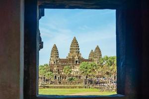 Ancient temple at Angkor Wat, Siem Reap, Cambodia