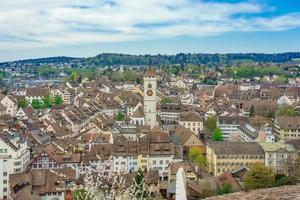 Panoramic view of the old town of Schaffhausen, Switzerland