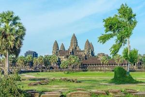 Antiguo templo en Angkor Wat, Siem Reap, Camboya