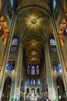 Interior of the cathedral of Notre Dame, Paris, France
