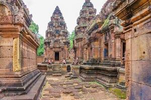 Banteay Srei temple dedicated to Shiva, in the jungle of the Angkor area of Cambodia