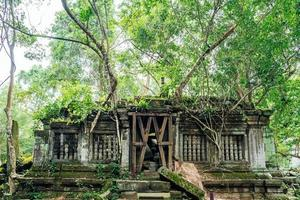 Beng Mealea temple ruins in the middle of forest, Siem Reap, Cambodia