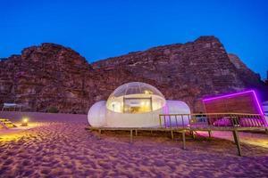 Camping along the rocks in Petra, Wadi Rum, Jordan