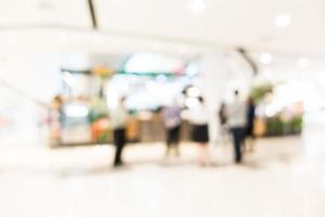 interior del centro comercial borrosa abstracta