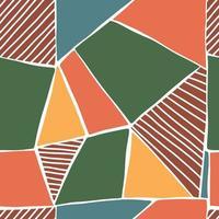 Modelo inconsútil geométrico abstracto con texturas dibujadas a mano de moda. diseño abstracto moderno. vector