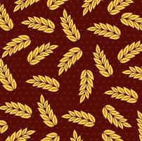 wheat spikes pattern background