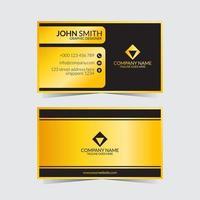 plantilla de tarjeta de visita amarilla negra