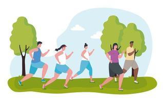 maratonistas corriendo al aire libre