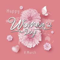 8 de marzo día de la mujer ilustración vectorial