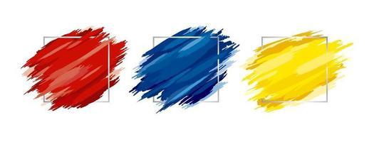 Pincel con marco plateado sobre fondo blanco ilustración vectorial