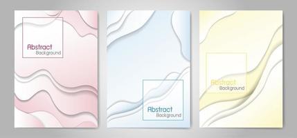 Ilustración de vector de fondo de color fluido abstracto
