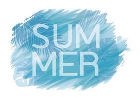 Diseño de fondo abstracto verano tropical de acuarela y hojas ilustración vectorial
