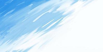 Trazo de pincel de acuarela azul abstracto sobre fondo blanco ilustración vectorial