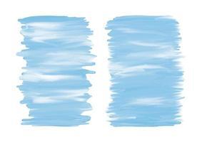 Banner de trazo de pincel acuarela azul sobre fondo blanco ilustración vectorial