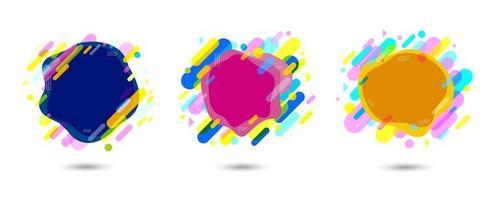 Diseño de banner colorido abstracto sobre fondo blanco ilustración vectorial