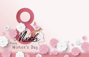 8 de marzo feliz día de la mujer ilustración vectorial