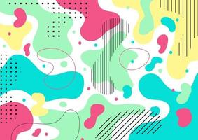 Abstract colorful liquid shape and pebble pattern background texture. vector