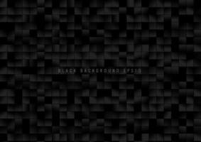 Patrón abstracto píxeles de cuadrícula cuadrados negros sobre fondo oscuro.