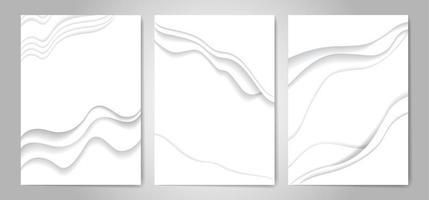 Ilustración de vector de fondo de corte de papel blanco abstracto