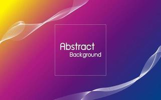 Color abstracto con ilustración de vector de fondo de onda de línea