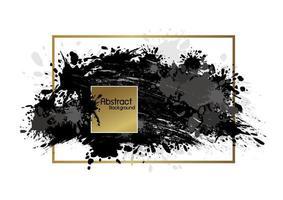 Banner abstracto pincel y salpicaduras de tinta sobre fondo blanco ilustración vectorial