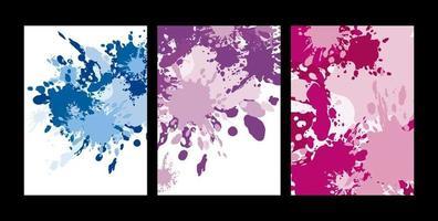 salpicaduras de color abstracto sobre fondo blanco ilustración vectorial