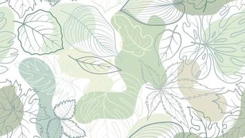 Floral pattern with leaves. Flower seamless summer festive background.