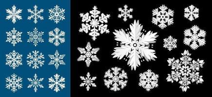 Diseño de copo de nieve para la ilustración de vector de temporada de Navidad e invierno