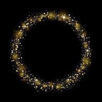 Diseño de brillo dorado sobre fondo negro para navidad y año nuevo ilustración vectorial