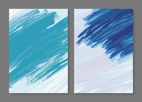 Ilustración de vector de fondo de trazo de pincel de pintura abstracta