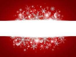 Diseño de concepto de fondo de Navidad de copo de nieve blanco y bokeh con ilustración de vector de espacio de copia