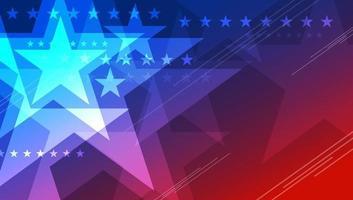Diseño de fondo abstracto de Estados Unidos de estrella para el 4 de julio día de la independencia ilustración vectorial