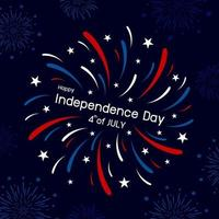 Fireworks design of 4th of july happy independence day vector illustration