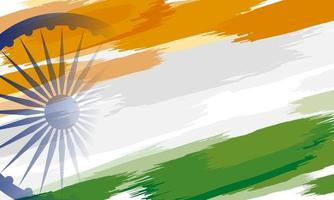 15th of August India Independence day background design of color paint on white background vector illustration
