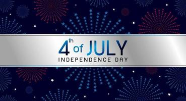 4 de julio día de la independencia diseño de banner ilustración vectorial