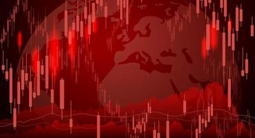 Diseño de fondo del mercado de valores de la ilustración de vector de crisis económica