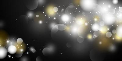 Ilustración de vector de fondo de luces bokeh abstracto