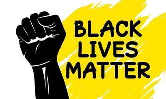 Black lives matter design of silhouette fist vector illustration