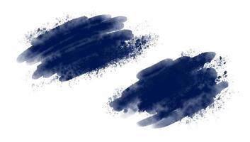 Pincel de acuarela azul sobre fondo blanco ilustración vectorial