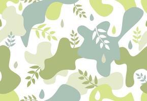 de patrones sin fisuras con manchas de forma orgánica en estilo memphis.