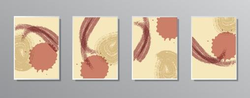conjunto de ilustraciones en color neutro vintage minimalistas creativas dibujadas a mano