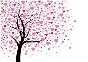 Ilustración de vector de diseño de árbol de corazón