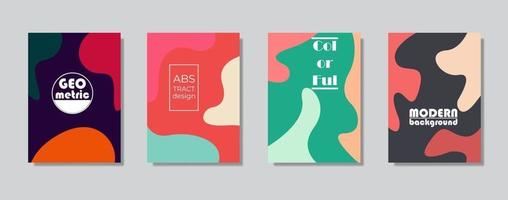 Colorful minimalist covers design. Minimal geometric pattern gradients vector