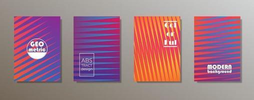 Colorful minimalist covers design. Minimal geometric pattern gradients vector