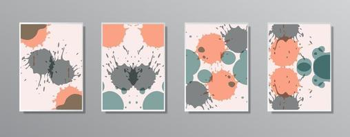 Set of creative minimalist hand drawn vintage neutral color illustrations, for wall. for gift card,  Poster on wall poster template,  landing page, ui, ux ,coverbook,  baner, vector