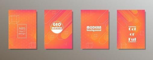 colorido diseño de cubiertas minimalistas. gradientes de patrones geométricos mínimos vector