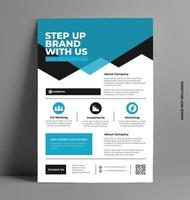 Company Flyer Layout Template in A4 Size. vector