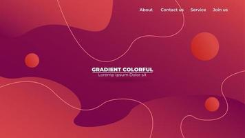 Modern abstract gradient wavy geometric background. Suitable For Wallpaper, Banner, Background, Card, Book Illustration, landing page, gift, cover, flyer, report, bussiness, social media vector