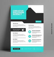 Sleek Flyer Illustration Template in A4 Size. vector