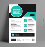 Flyer Layout Template in A4 Size.